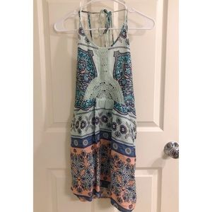 Roux Patterned Halter Dress (Size XS)